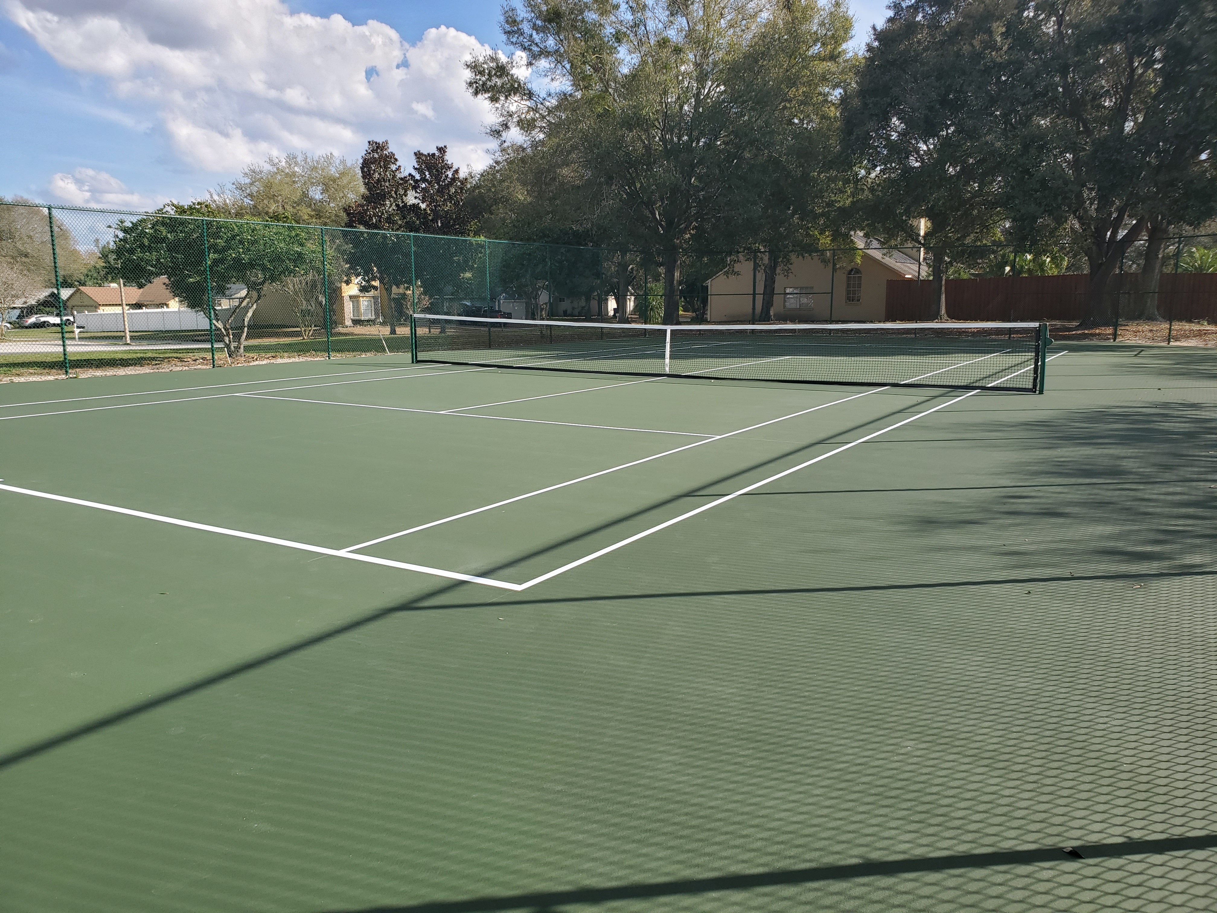 View from New Tennis Court Entrance